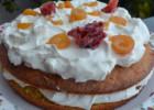 Tούρτα με κέικ πορτοκαλιού και mousse γιαουρτιού από   την Ιωάννα Σταμούλου και το «Sweetly» !