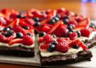 Brownies  πίτσα με επικάλυψη βατόμουρου από το   «Spice House»  !