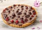 Τάρτα με φράουλες και σοκολάτα νηστίσιμη από  την  Εβίτα Παπαχαραλάμπους και το Cookbox !