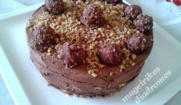 Ferrero Rocher Cake – Toύρτα από  την Vasiliki ver. και τις «Μαγειρικές Διαδρομές»!