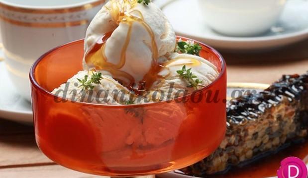 Παγωτό με ανθότυρο και μέλι από την Ντίνα Νικολάου !