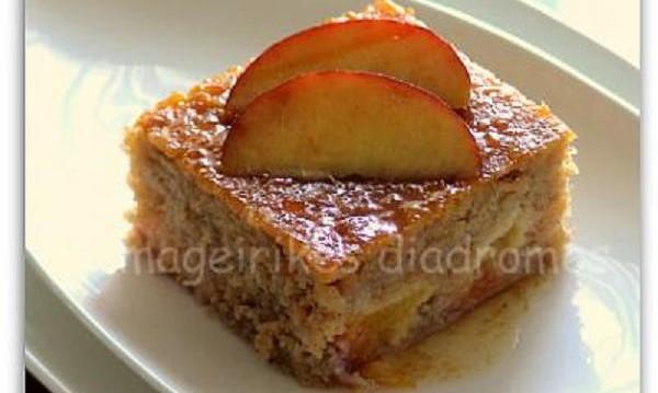 Ροδακινόπιτα από την Ηλιάννα και τις»Μαγειρικές Διαδρομές»!