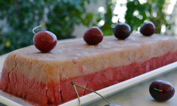 Δίχρωμη γρανίτα κεράσι και ροδάκινο από την Ιωάννα Σταμούλου και το «Sweetly» !