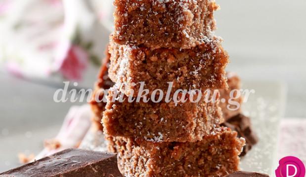 Ραβανί με καρύδα και σοκολάτα από την Ντίνα Νικολάου !
