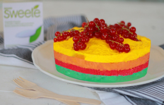 Light τούρτα ουράνιο τόξο με Sweete Stevia από τον Γαβριήλ Νικολαϊδη και τον  Cool artisan!