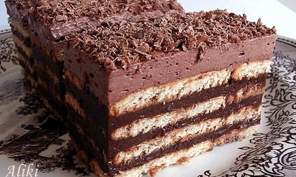 Τούρτα Μπισκότο με σοκολάτα από την Αλίκη και το «Μυρωδιές και Νοστιμιές»!