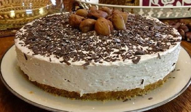 Τσηζ κέικ κάστανο, ανάλαφρο και χειμωνιάτικο, από την Μπέττυ μας και το «Taste of life by Betty»!