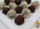 Σοκολατάκια με κάστανο και στέβια, από τον Ευτύχη Μπλέτσα, την ISOSTEVIA  και το Happy Cook!!