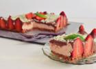Cheesecake με φράουλες και επικάλυψη βελούδινης σοκολάτας – Chocolate and Strawberry Cheesecake Recipe by Gabriel Nikolaidis and the Cool Artisan!