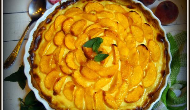 Τάρτα με κρέμα και ροδάκινα από την καταπληκτική Mamatsita! – Peach cream tart by Mamatsita!!