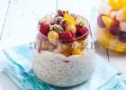 Ρυζόγαλο με κινόα, γάλα καρύδας, φρούτα και φιστίκι Αιγίνης, από την Αργυρώ μας!