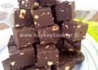 Fudge μαύρης σοκολάτας με φουντούκια και μοσχοκάρυδο από την Ρένα Κώστογλου και το koykoycook.gr!