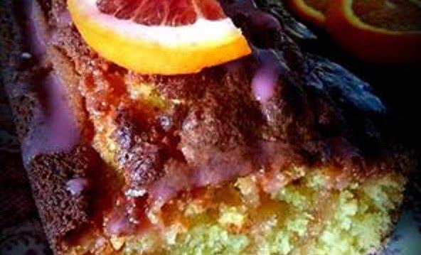 Κέικ σαγκουίνι με γλάσο σαγκουίνι, από την  αγαπημένη μας mamatsita!