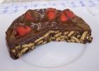 Μωσαϊκό με επικάλυψη σοκολάτας και φράουλες, από το icookgreek.com!
