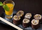 Σούσι Τιραμισού με σάλτσα σοκολάτας,  από τη Μυρσίνη Λαμπράκη και το mirsini.gr!