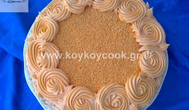 Τούρτα γενεθλίων πορτοκάλι SWIRL ROSE, από την εξαιρετική Ρένα Κώστογλου και το koykoycook.gr!
