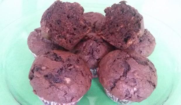 Muffins choco-banana (+Video) από την Ηλέκτρα Μαραγκουδάκη και το   Electra's sweetchen!
