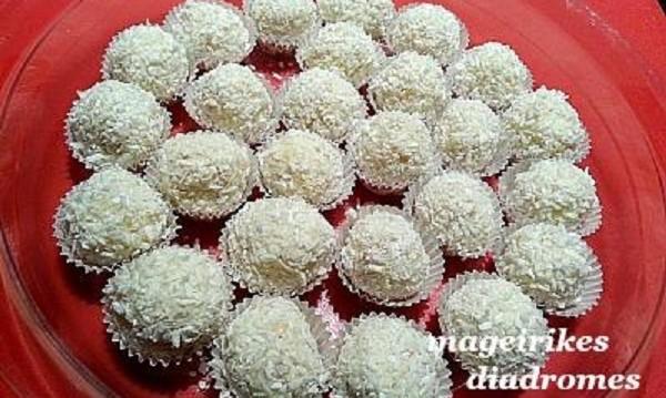 Πραλίνες raffaello με καρύδα, από τις «Μαγειρικές Διαδρομές»!