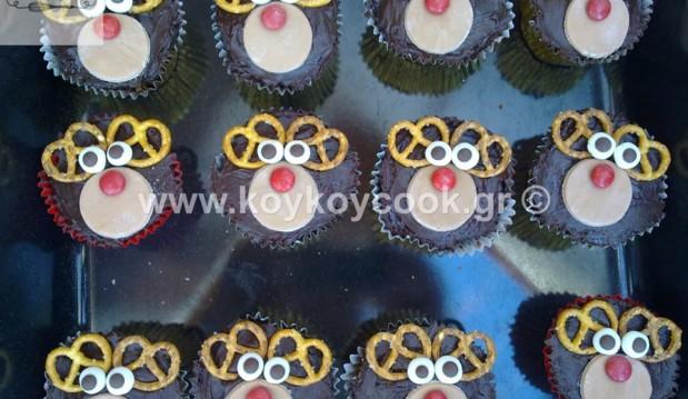 Cupcakes Rudolf το ελαφάκι, από την αγαπημένη Ρένα Κώστογλου και το koykoycook.gr!