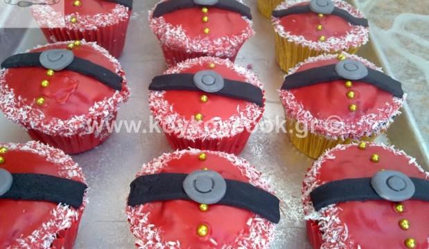 Απίθανα cupcakes του 'Αγιου Βασίλη, από την αγαπημένη Ρένα Κώστογλου και το koykoycook.gr!