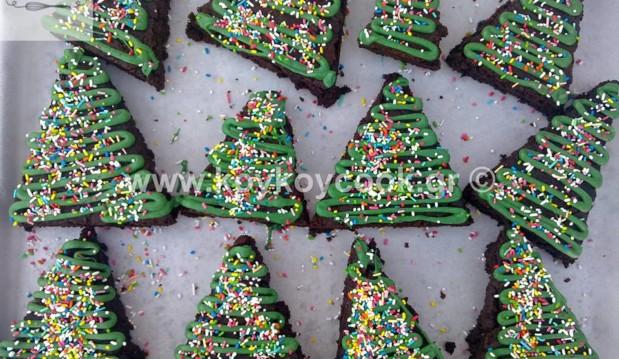Χριστουγεννιάτικα brownies δεντράκια, από την αγαπημένη Ρένα Κώστογλου και το Koykoycook.gr!