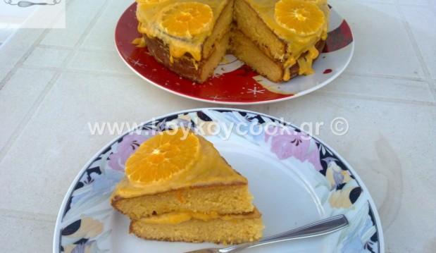 Κέικ βουτύρου με καστανή ζάχαρη και κρέμα πορτοκαλιού (orange curd), από την αγαπημένη μας Ρένα Κώστογλου και το koykoycook.gr!