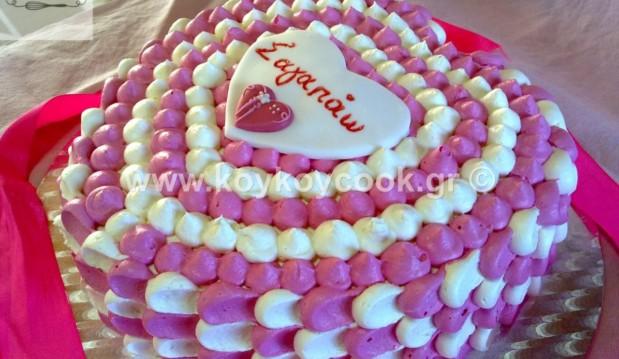 Τούρτα σοκολάτα Άγιος Βαλεντίνος καρδιά, από την αγαπημένη Ρένα Κώστογλου και το koykoycook.gr!