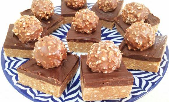 Σοκολατένιο γλυκό ψυγείου με σοκολάτα Cadbury και Ferrero Rocher, από το sintayes.gr!