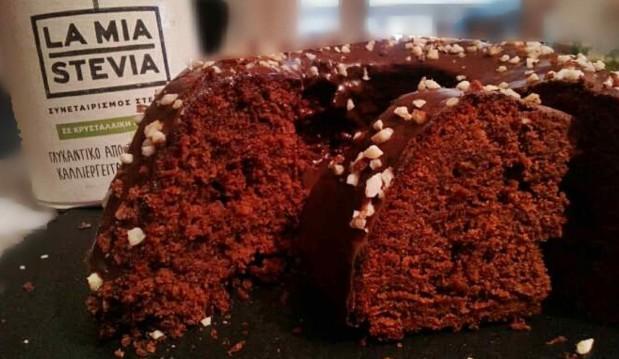 Σοκολατένιο κέικ με La Mia Stevia, από την Μαρία Κούρτη!
