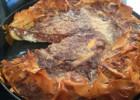 Γαλατόπιτα με κρέμα σοκολάτα-βανίλια (διώροφη), από την Αργυρώ μας!