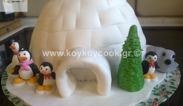 Τούρτα γενεθλίων IGLOO, από την απίθανη Ρένα Κώστογλου και το koykoycook.gr!
