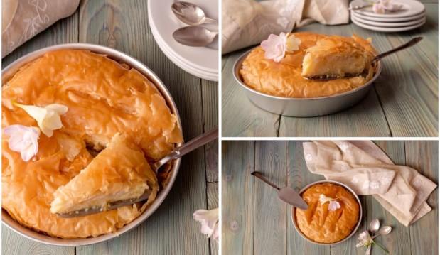Γαλακτομπούρεκο με αρωματική κρέμα από τον Πέτρο Συρίγο και το petros-syrigos.com!