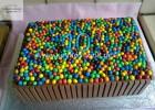 Τούρτα γενεθλίων ουράνιο τόξο με kitkat και smarties, από την αγαπημένη Ρένα Κώστογλου και το koykoycook.gr!