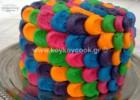 Πολύχρωμη τούρτα σοκολάτα με γέμιση κρέμα ινδοκάρυδου, από την αγαπημένη μας Ρένα Κώστογλου και το koykoycook.gr!