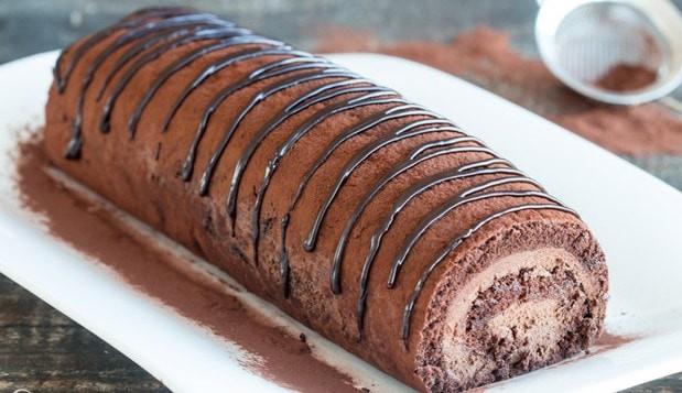 Κορμός σοκολάτας με αφράτη γέμιση, από το Votanonkipos.gr!