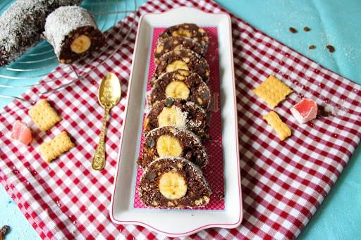 Μωσαϊκό σοκολάτας ψυγείου με μπανάνα, από το sintayes.gr!