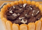 Τούρτα παγωτό με σοκολάτα και σαβαγιάρ, από το sintayes.gr!