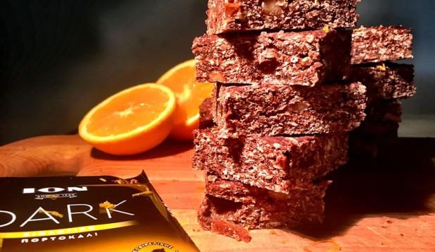 Μπάρες με σοκολάτα ΙΟΝ Dark πορτοκάλι, από την Αριάδνη Πούλιου και το ionsweets.gr!