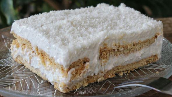 Χιονούλα, το υπέροχο νηστίσιμο γλυκάκι με ινδοκάρυδο (Video), από το sintayes.gr!