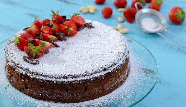 Κέικ σοκολάτας Caprese χωρίς αλεύρι με 5 υλικά (Video), από το sintayes.gr!