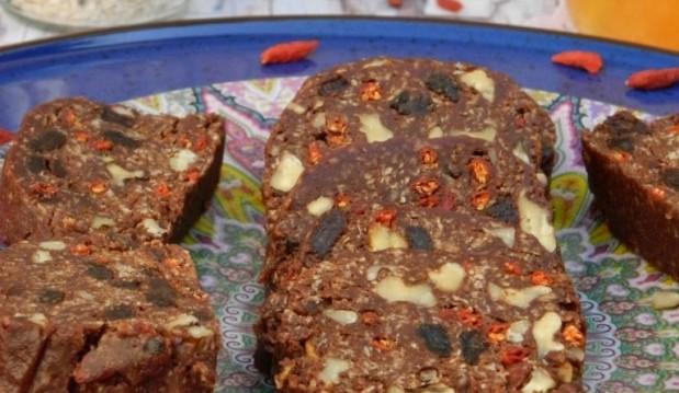 Θρεπτικό γλυκό σαλάμι ή μωσαϊκό-Nutritious sweet salami, by Demetra and the Veggie sisters!