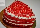 Naked red velvet τούρτα καρδιά, από την αγαπημένη μας Ρένα Κώστογλου και το koykoycook.gr!