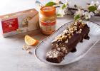 Νηστίσιμο ρολό σοκολάτας με μακεδονικό ταχίνι με πορτοκάλι και μακεδονικό χαλβά με γεύση βανίλια, από την Ιωάννα Σταμούλου και το sweetly!