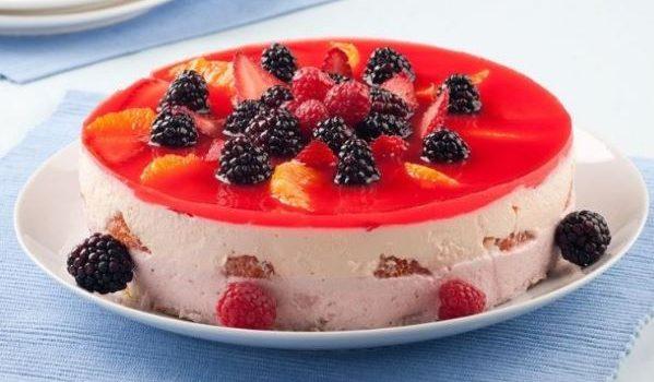 Γιαουρτοζελέ με φρέσκα φρούτα, από το sintayes.gr!